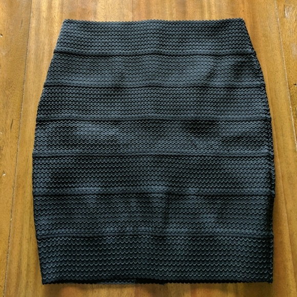 8c66b2a9882f29 Xhilaration Skirts | Black Bandage Bodycon Mini Skirt Medium | Poshmark